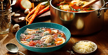 Minestrone Mini Pierogy Soup