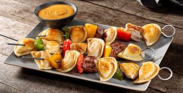 Grilled Mini Pierogy Kabobs