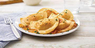 Classic Pierogies with Butter and Onions