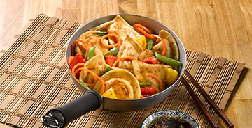 Asian Pierogy Stir Fry
