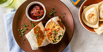 Southwest Pierogy Breakfast Burrito