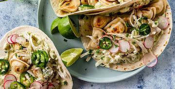 Mini Pierogy Tacos